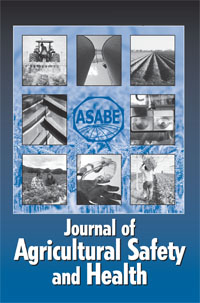 Front cover of the Journal of Agricultural Safety and Health